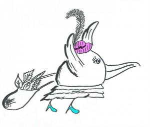 PRZYCIĘTY ilustracja muumy bird  2